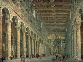 Giovanni Paolo Pannini: Inneres der Kirche San Paolo fuori le Mura in Rom