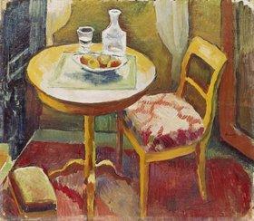 August Macke: Wohnzimmerecke in Tegernsee