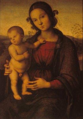 Perugino (Pietro Vanucci): Maria mit dem Kind