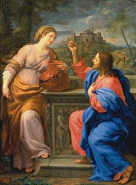 Carlo (Maratta Carlo) Maratti: Christus und die Samariterin am Brunnen