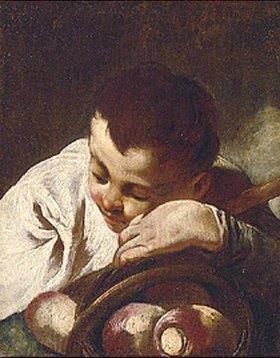 Giovanni Battista Piazzetta: Kopf eines schlafenden Knaben