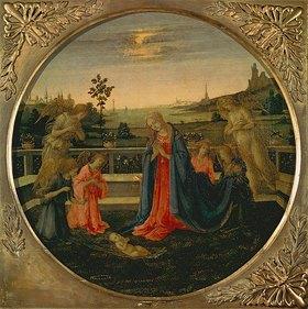 Filippino Lippi: Die Anbetung des Christkindes