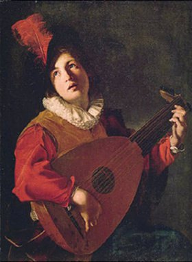 Bartolomeo Manfredi: Der Lautenspieler