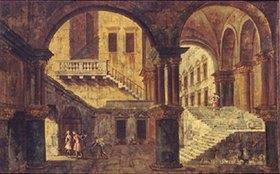 Michele Marieschi: Treppenhaus in einem venezianischen Palazzo