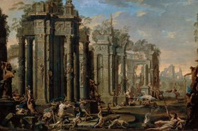 Alessandro Magnasco: Bacchanal vor antiken Ruinen. 1710-er Jahre