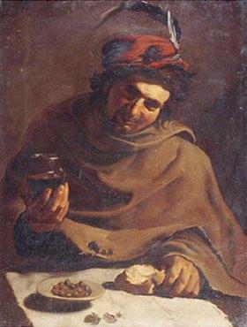 Bartolomeo Manfredi: Mann beim Frühstück