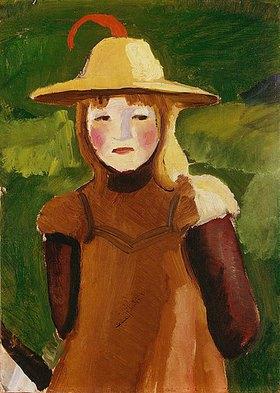 August Macke: Bauernmädchen mit Strohhut