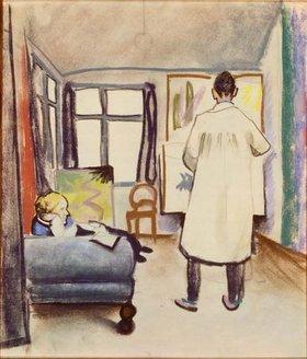 August Macke: Maria und Franz Marc im Atelier bei Macke in Bonn, 1912