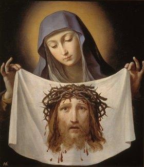 Guido Reni: Die Hl. Veronika mit dem Schweißtuch Jesu. Späte 1630-er Jahre