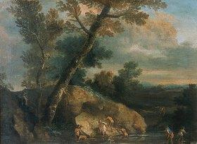 Salvator Rosa: Landschaft mit Badenden