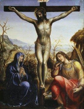 Sodoma (Giovanni A.Bazzi): Christus am Kreuz mit Maria und Johannes dem Evangelisten