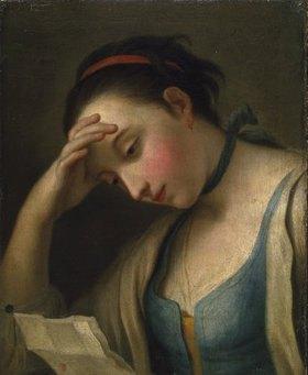 Pietro A. Kopie nach Rotari: Bildnis einer lesenden jungen Frau