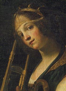 Francesco Rustici: Kopf einer jungen Musikerin. Detail aus 'Musizierende Gruppe'