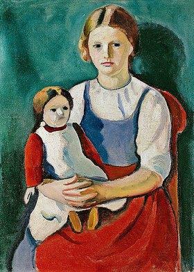 August Macke: Blondes Mädchen mit Puppe