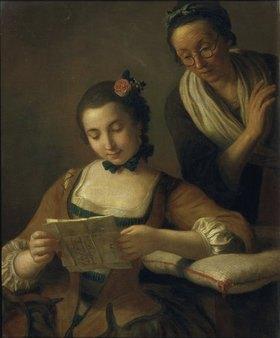Pietro Antonio Rotari: Junge und alte Frau beim Lesen eines Briefes