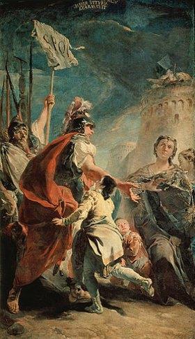 Giovanni Battista Tiepolo: Coriolan in der Gegend von Rom