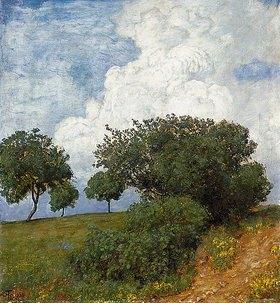 Hans Thoma: Landschaft mit Wolke
