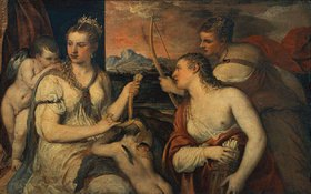 Tizian (Tiziano Vecellio): Venus und Amor