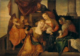 Paolo (Paolo Caliari) Veronese: Die mystische Vermählung der Hl. Katharina