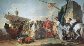 Giovanni Battista Tiepolo: Die Begegnung von Caesar und Cleopatra