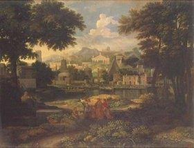 Etienne Allegrain: Landschaft mit der Auffindung des Mosesknaben