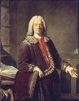 Jacques-André-Joseph-C Aved: Bildnis des Tragödiendichters P.J. de Crebillon (1679-1762)