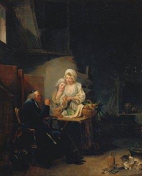 Louis-Léopold Boilly: Der alte Seelsorger. Ende 1780-er Jahre