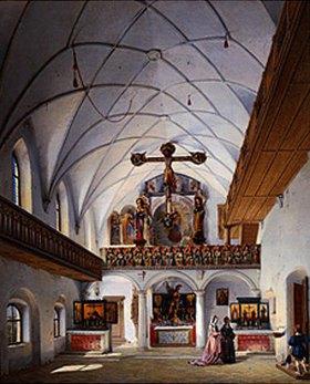 Michael Neher: Inneres der St.Georgskapelle auf der Burg Trausnitz/Landshut