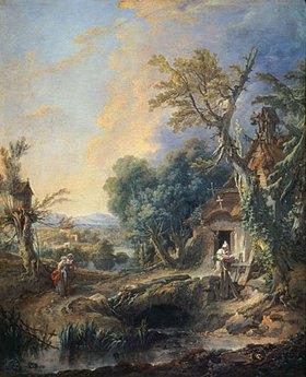 François Boucher: Landschaft mit Einsiedler
