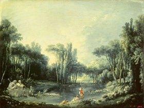 François Boucher: Landschaft mit Teich