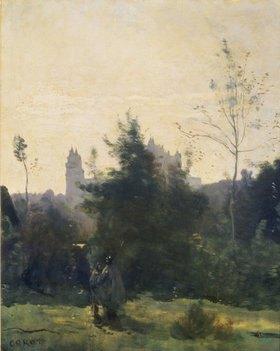 Jean-Baptiste Camille Corot: Das Schloss Pierrefonds. 1860-er Jahre