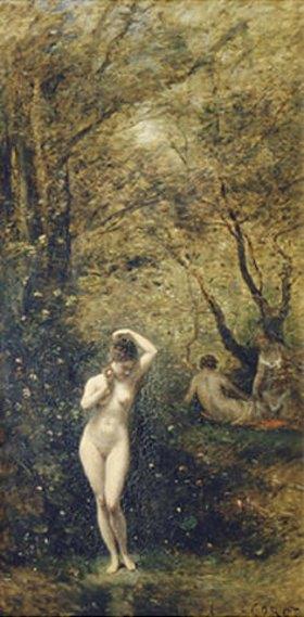 Jean-Baptiste Camille Corot: Badende Diana