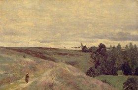 Jean-Baptiste Camille Corot: Mit Heidekraut überwachsende Höhen bei Vimautier. 1860-er Jahre