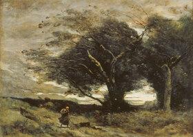 Jean-Baptiste Camille Corot: Ein Windstoss
