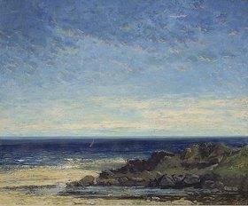 Gustave Courbet: Blaues Meer - blauer Himmel