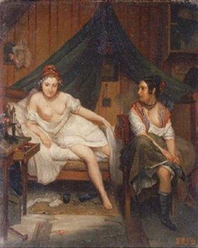 Louis Eugene Bertier: Zwei junge Frauen