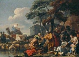 Sebastien Bourdon: Jakob begräbt die fremden Götter unter der Eiche von Shechem