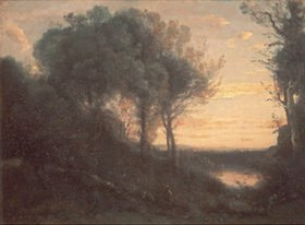 Jean-Baptiste Camille Corot: Rötlicher Sonnenuntergang
