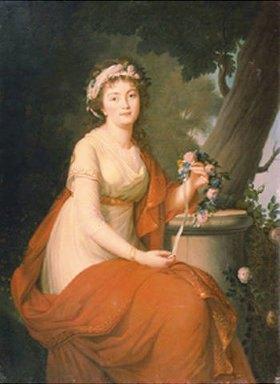 Nicolas de Courteille: Bildnis der Herzogin T. Jusupov