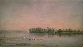 Charles-François Daubigny: Morgenstimmung über dem See