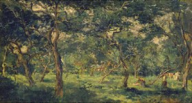 Charles-François Daubigny: Olivenhain. Frühe 1870-er Jahre