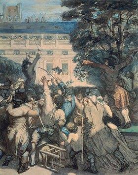 Honoré Daumier: Camille Desmoulins vor dem Palais Royal