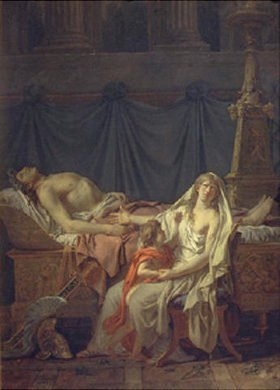 Jacques Louis David: Andromache betrauert Hektor