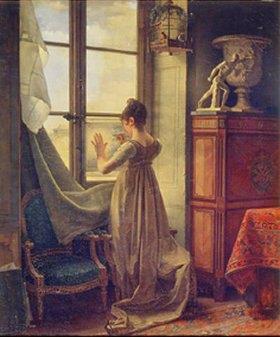 Martin Drölling: Die Tochter des Malers, eine Zeichnung kopierend