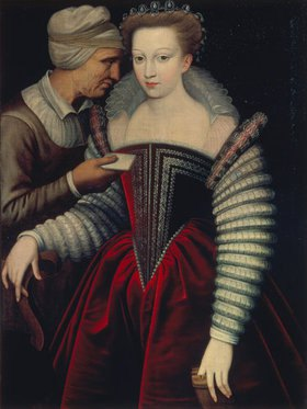 Französisch: Der Liebesbrief (die Kupplerin). 2. Hälfte 16. Jahrhundert