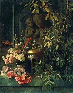 Französisch: Stillleben mit Laterne (19. Jahrhundert)