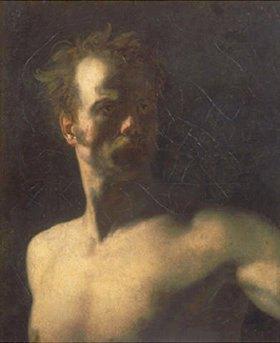 Théodore Géricault: Halbakt eines Mannes