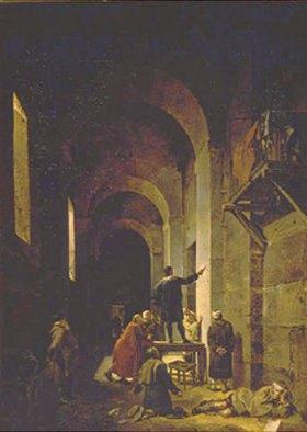 François Marius Granet: Der Maler Jacques Stella im Gefängnis. 1810.