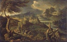 Gaspard Dughet: Landschaft mit Gewitter