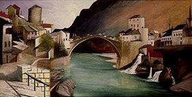 Tivadar Csontváry-Kosztka: Römische Brücke in Mostar